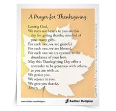 a prayer for thanksgiving sadlier religion