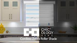 Roller Shade Chicology Home Cordless Zebra Free Stop Roller Shade Youtube