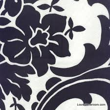 Black Drapery Fabric Hd392 Fiorenze Italy Large Scale Damask Black And White Heavy
