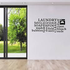 laundry word cloud wall sticker by mirrorin notonthehighstreet com laundry word cloud wall sticker