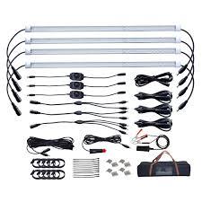 led strip lights marine dream lighting 12v led camping strip lights kit 4 cool white