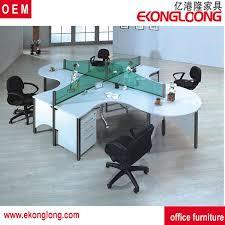 Computer Workstation Desk Modern 4 Person Office Computer Workstation Desk Modern 4 Person