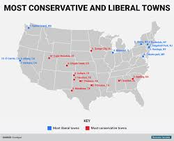 Map Of Illinois Cities And Towns The Most Conservative And Liberal Towns In America Business Insider