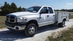 2007 Dodge Ram 3500 Truck Quad Cab - 2007 dodge ram 3500 quad cab utility bed pickup truck item