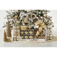 gold theme complete tree decorating kit