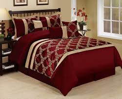 Red And White Comforter Sets Bedding Outstanding Burgundy Bedding Comforter Set Queen Size
