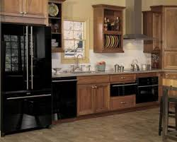 kitchen designed with wooden kitchen cabinets and stainless steel