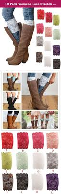 womens size 12 boot socks 12 pack womens lace stretch boot leg cuffs leg warmer boot