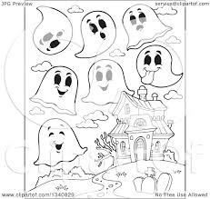 haunted house clipart free lineart clipart of a cartoon black and white halloween haunted