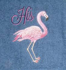 wedding gift hers uk flamingo bath towels his and hers flamingo towel set pink