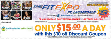 10 discount for fitexpo fort lauderdale fort lauderdale on the