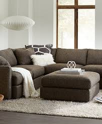 clinton fabric 5 piece sectional with 2 armless chairs furniture