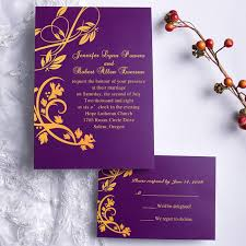 purple wedding invitations graceful purple floral scroll wedding invites uki125 uki125