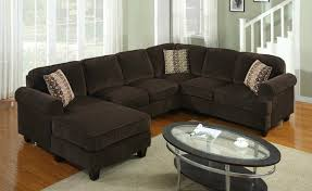 sofa beds design latest trend of unique chocolate brown sectional