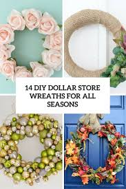 diy wreaths 14 diy dollar store wreaths for all seasons and occasions