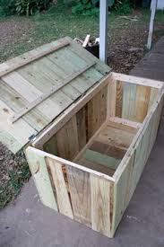 Outdoor Storage Bench Easy Way To Store Outside Stuff Pressure Treated Lumber