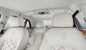 white bentley interior celebrates 95th anniversary with the mulsanne 95