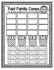 great first grade math freebies u2014 fact families