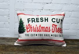 fresh cut trees pillow the birdie pillow co