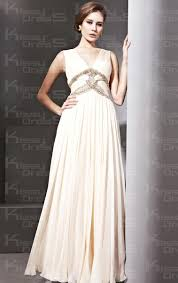 tencel vintage sheath column v neck sleeveless long prom dress for