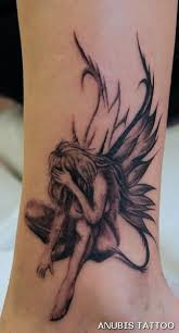 26 best sad angel fairy tattoo designs images on pinterest black