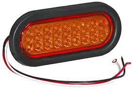sl65ao 6 1 2 oval led strobe light recessed