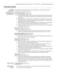 Resume Customer Service Skills Customer Service Sample Resume Resume Template And Professional