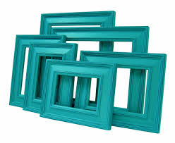 Teal Blue Home Decor Picture Frames Picture Frame Set Shabby Chic Picture Frames Teal