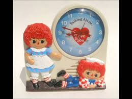 raggedy ann and andy talking alarm clock 1974 youtube