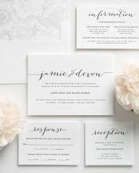 flowing script letterpress wedding invitations letterpress