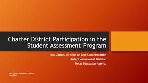 charter district participation in the student assessment program