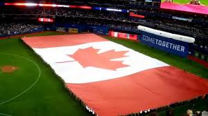 Giant Canadian Flag Toronto Blue Jays Home Opener 2015 Canadian Flag Youtube