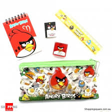 5 1 pencil case bag angry bird stationary assorted colour