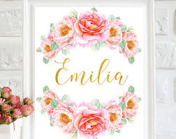 Baby Name Decor For Nursery Baby Name Etsy