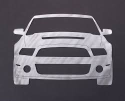 ford mustang gt silhouette wall decor u2013 wall muscle