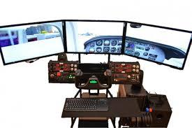 Flight Sim Desk Volair Sim Flight Racing Cockpit Review Gamingshogun