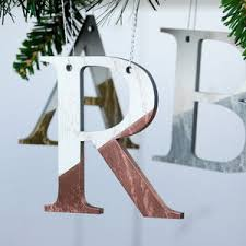personalised metallic and white letter decorations by bespoke