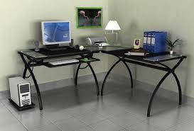 Glass Topped Computer Desk Cromo Glass Top Computer Desk Marlowe Desk Ideas