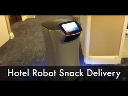 snack delivery service hotel room service robot delivering snack