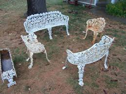Painting Wrought Iron Patio Furniture by Trendy Design Ideas Cast Iron Garden Furniture Stunning Paint Cast