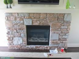 How To Resurface A Brick Fireplace by Gray Washed Fireplace Stone Using Annie Sloan Chalk Paint Life