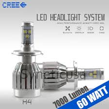 cree 6000k high power led headlight bulb 7000 lumen 60w