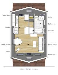 Cabin Blueprint by Home Design 8x16