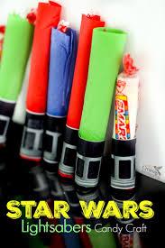 wars smarties lightsaber craft treat handout
