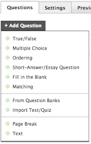 course materials tests quizzes u2013 schoology support
