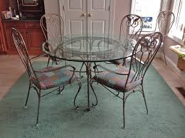 wrought iron dining table set ideas of french iron dining table with 48 in round marble top with