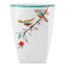 amazon com lenox chirp waste basket home u0026 kitchen