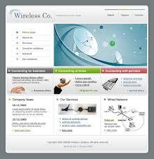 website template 12804 wireless company satellite custom website