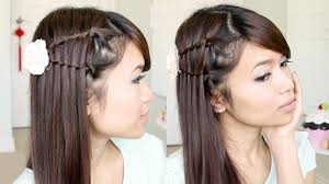 Simple But Elegant Hairstyles For Long Hair by Double Waterfall Twist Hairstyle For Medium Long Hair Tutorial