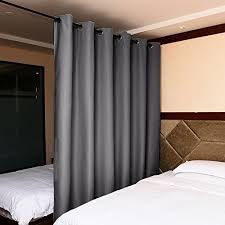 Black And White Blackout Curtains Nicetown Room Divider Blackout Curtains Grey Beige Black White